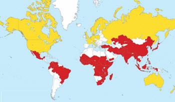 kolera utbredning